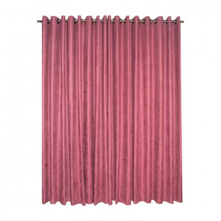 Set draperii Velaria roz catifelat, 2*230x225 cm1