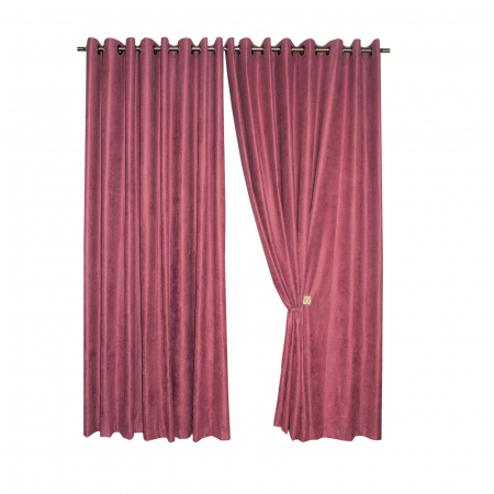 Set draperii Velaria roz catifelat, 2*230x225 cm0