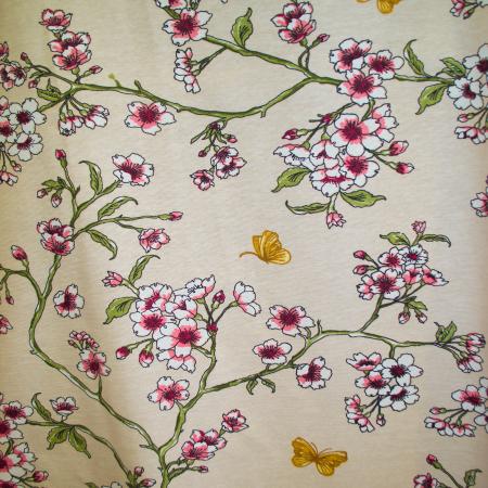 Draperie Velaria teflonata flori de cires, diverse culori0