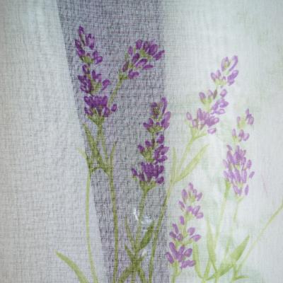 Perdea Velaria scurta cu imprimeu lavanda2