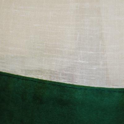 Perdea de bucatarie din in bej, 400x170 cm1