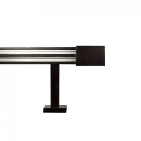 Galerie dubla lemn tei vopsit lacuit cu 2 canale insertate de aluminiu1