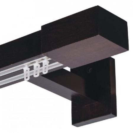 Galerie dubla lemn tei vopsit lacuit cu 2 canale insertate de aluminiu2
