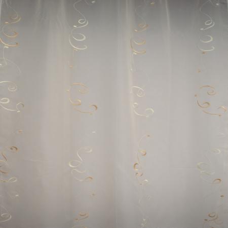 Perdea Velaria de bucatarie voal crem cu imprimeu, 170x140 cm1