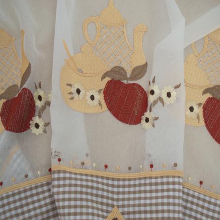 Perdea Velaria de bucatarie cu mere, 350x160 cm1