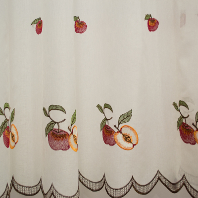 Perdea de bucatarie in cu fructe, 430x160 cm2