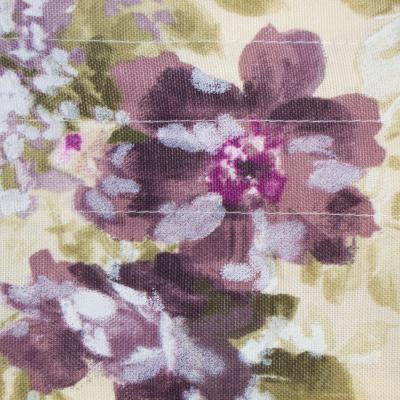 Perdea de bucatarie cu imprimeu floral1