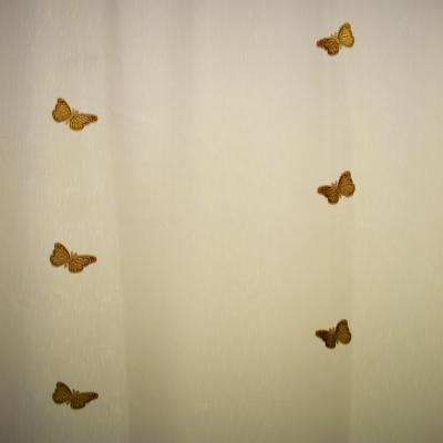 Perdea fluturi maro 215x245 cm1