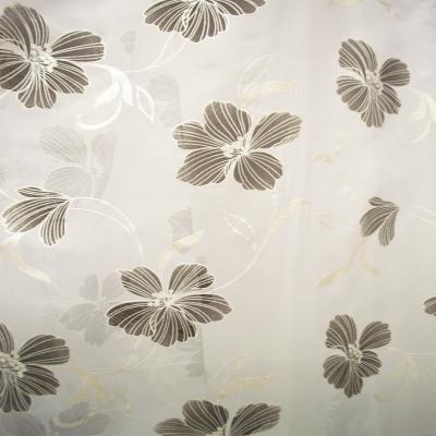 Perdele Velaria voal pictat flori negru2