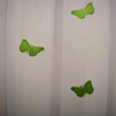 Perdea Velaria sable cu fluturi verzi3
