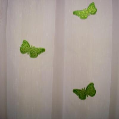 Perdea Velaria sable cu fluturi verde1