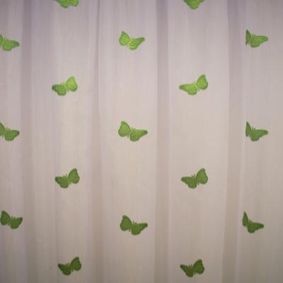 Perdea Velaria sable cu fluturi verzi2