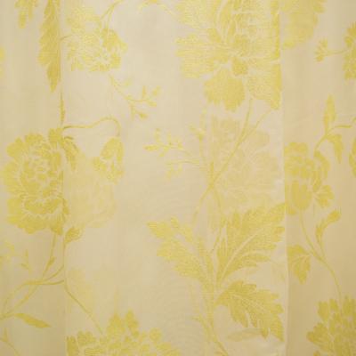 Perdea supershiny paint gold flowers, 430x245 cm1