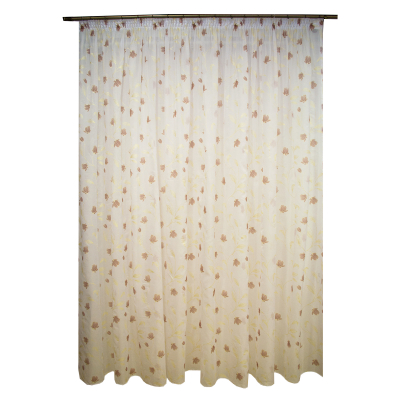 Perdea superpaint flowers brown, 390x245 cm0