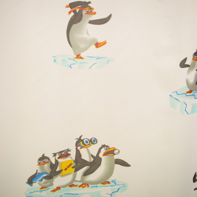 Perdea Velaria voal cu pinguini 170x245 cm2