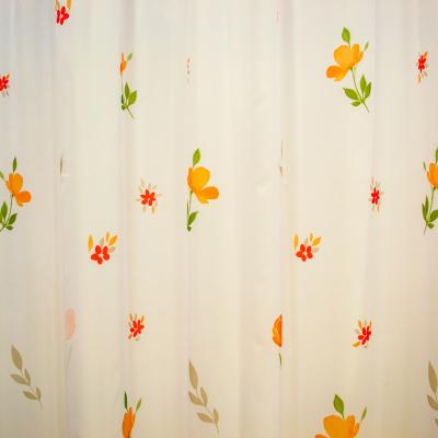 Perdea supervoal flori de campie portocalii, 220x245 cm2