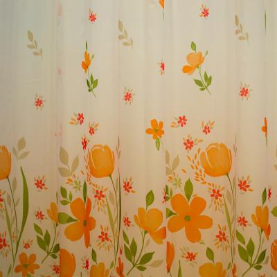 Perdea supervoal flori de campie portocalii, 220x245 cm1
