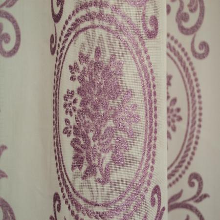 Perdea Velaria baroc mov pictat, 490x150 cm [1]