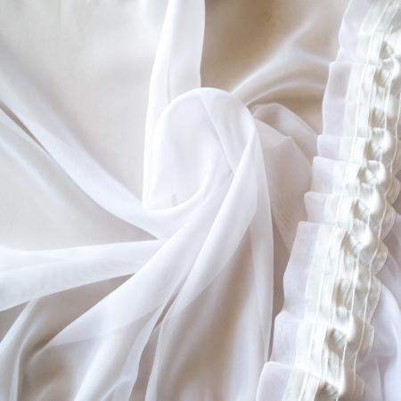 Perdea Velaria voal alb cu fluturi aurii, 245x160 cm2