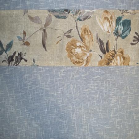 Perdea Velaria in gros texturat cu flori, 250x170 cm2