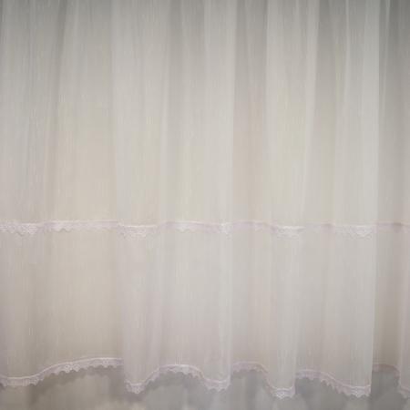 Perdea Velaria sable alb cu dantela, 340x140 cm1
