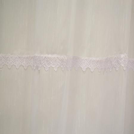 Perdea Velaria sable alb cu dantela, 340x140 cm2