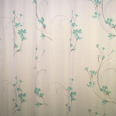 Perdea Velaria cu flori turqoise 155x245 cm2