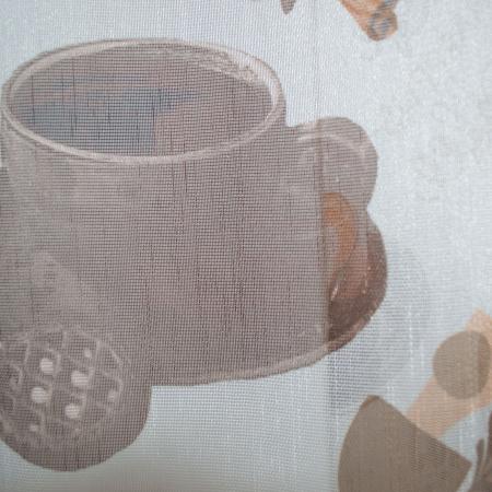 Perdea Velaria de bucatarie cu cesti de cafea [2]