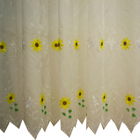 Perdea Velaria Floarea soarelui alb2