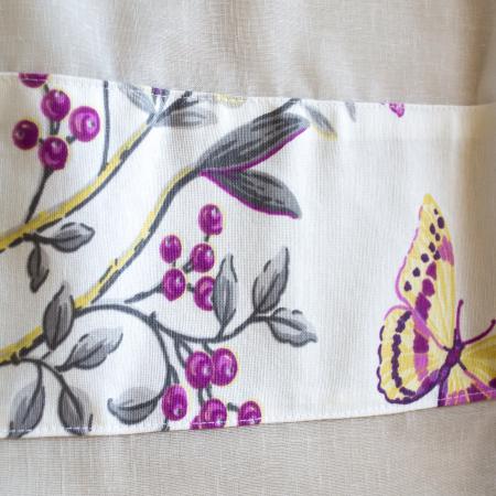 Perdea Velaria in ivory cu butterfly mov, 290x155 cm1