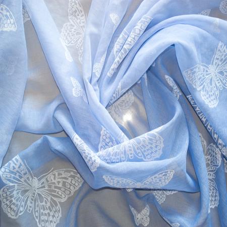 Perdea Velaria fluturi albastri degrade, 280x275 cm1