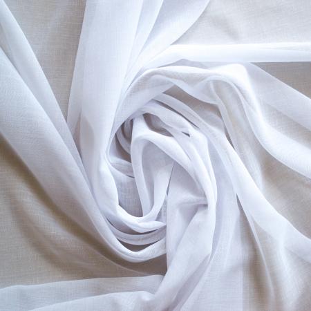 Perdea Velaria in alb cu bordura maci rosii1