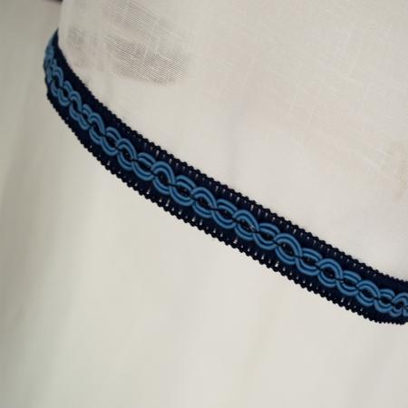 Perdea Velaria in bodrum cu fir albastru [2]