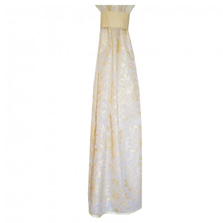 Perdea Velaria in alb cu imprimeu baroc auriu, 180x150 cm [4]