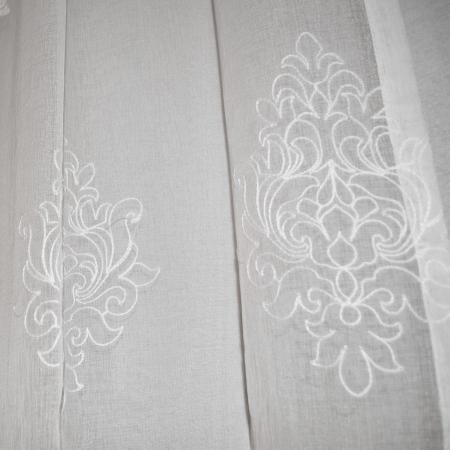 Perdea Velaria in baroc brodat ivoire, 160x250 cm [2]