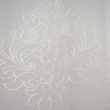 Perdea Velaria in alb cu imprimeu baroc brodat, 335x140 cm1