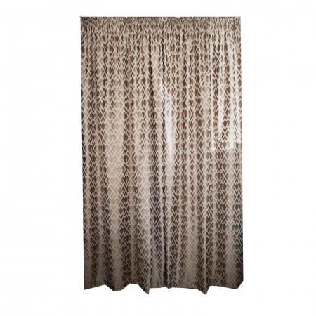 Set draperii Velaria tafta romburi beige, 2*140x255 cm0