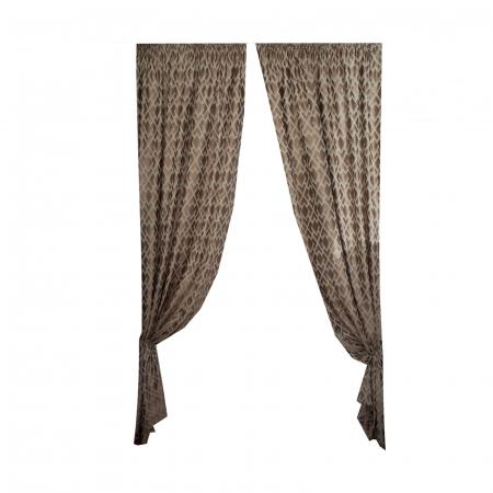 Set draperii Velaria tafta romburi beige, 2*140x255 cm1