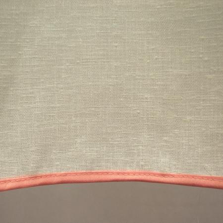 Perdea Velaria in ivoire gros cu imprimeu floral, 245x145 cm3