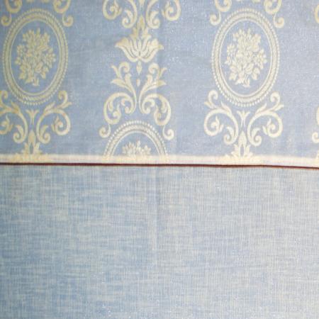 Perdea Velaria in ivoire lucios cu imprimeu baroc, 280x150 cm4