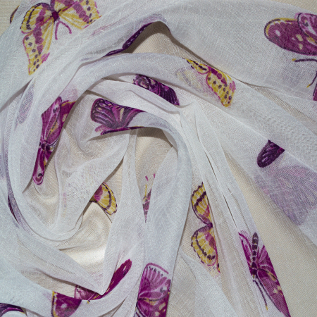 Perdea Velaria in cu fluturi mov, 220x165 cm1