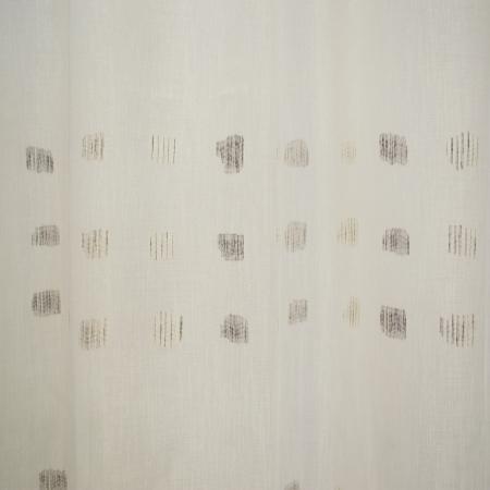 Perdea Velaria in alb cu imprimeu geometric, 160x175 cm1