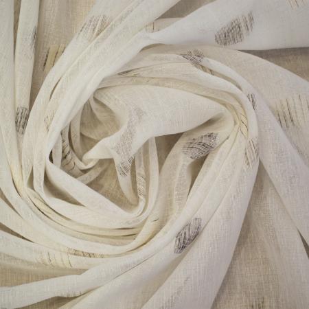 Perdea Velaria in alb cu imprimeu geometric, 160x175 cm2
