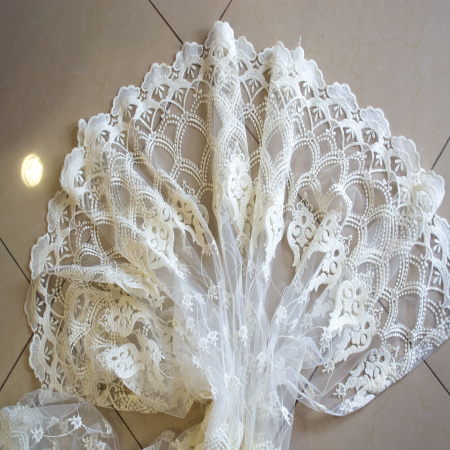 Perdea Velaria tul ivoire brodat, 275x245 cm0