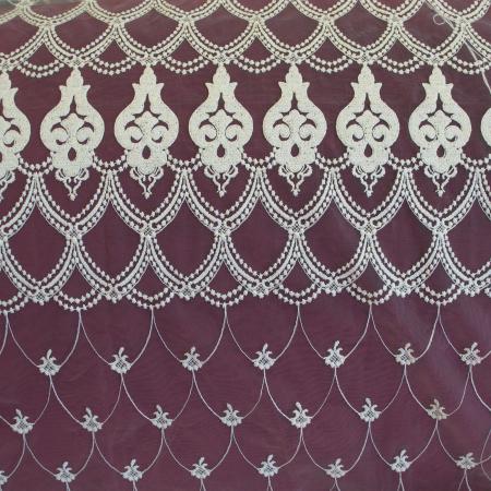 Perdea Velaria tul ivoire brodat, 275x245 cm4