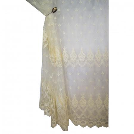 Perdea Velaria tul ivoire brodat, 275x245 cm5