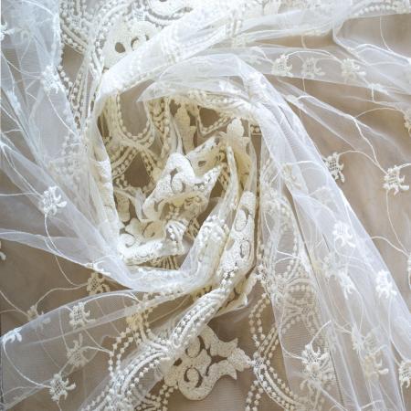 Perdea Velaria tul ivoire brodat, 275x245 cm2