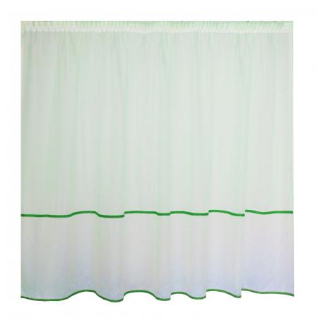 Perdea Velaria ploita cu fir verde, 300x195 cm [0]