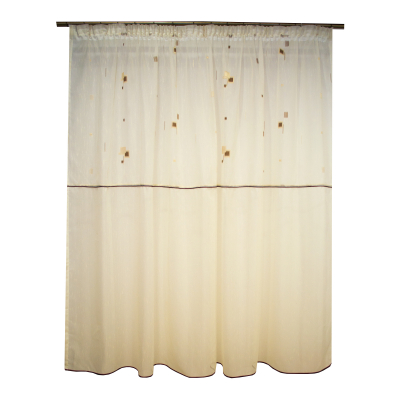 Perdea Velaria sable cu patratele, 290x180 cm0