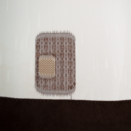Perdea Velaria sable cu patrate maro, 290x140 cm1